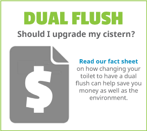Should you upgrade your toilet cistern to a dual flush?