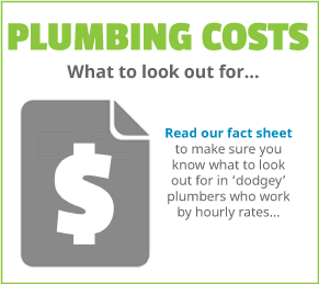 Plumbing fact sheet on what to look out for with plumbing prices