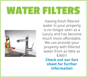 Customer information on health benefits with getting a water filter in your Sydney home or office